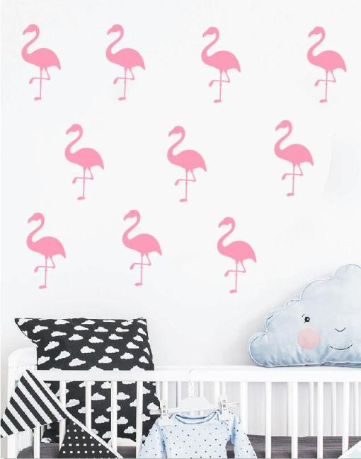 wandtattoo flamingo kinderzimmer