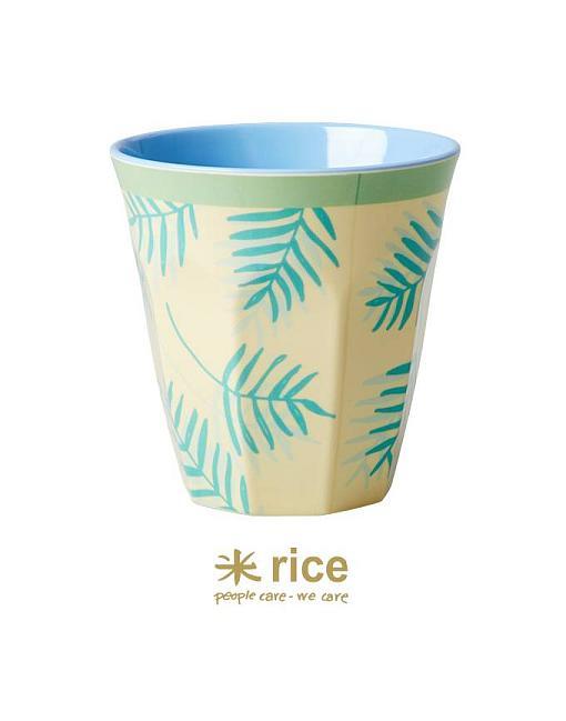 rice melamin becher palmenblätter mittel