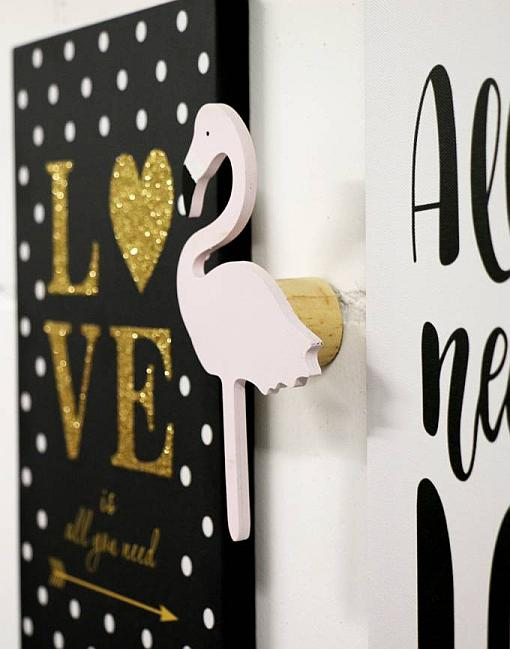 wandhaken flamingo rosa garderobe kinderzimmer