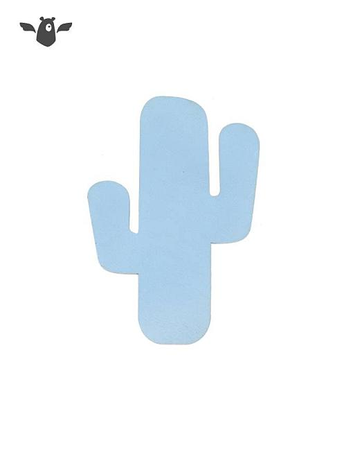 wandhaken kaktus hellblau garderobe kinderzimmer