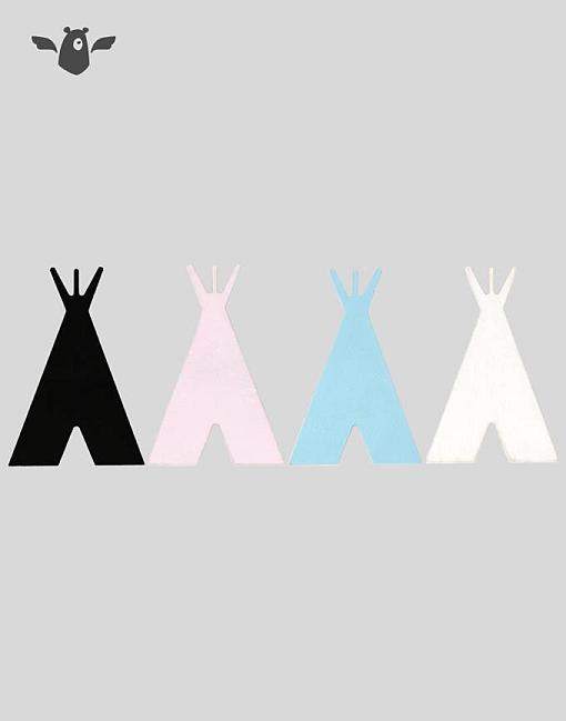 wandhaken tipi alle farben garderobe kinderzimmer