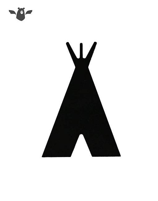 wandhaken tipi schwarz garderobe kinderzimmer