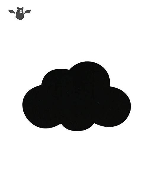 wandhaken wolke schwarz garderobe kinderzimmer